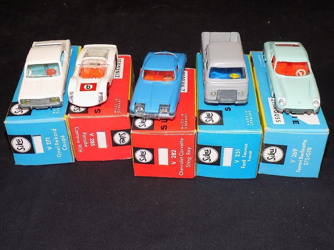 Siku NIB Car Lot (5) v271 Opel Rekord, v285 Porsche, - 5