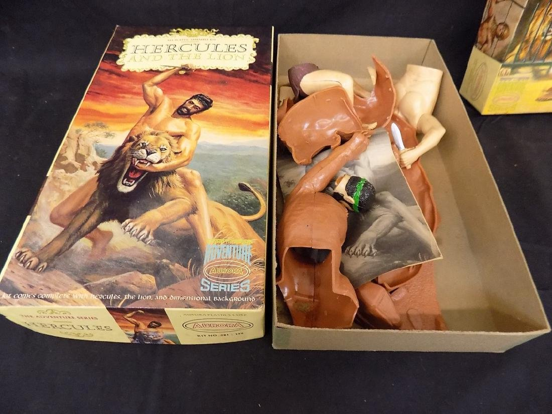 1960's Aurora Models Hercules w/Tiger, Spartacus & - 2