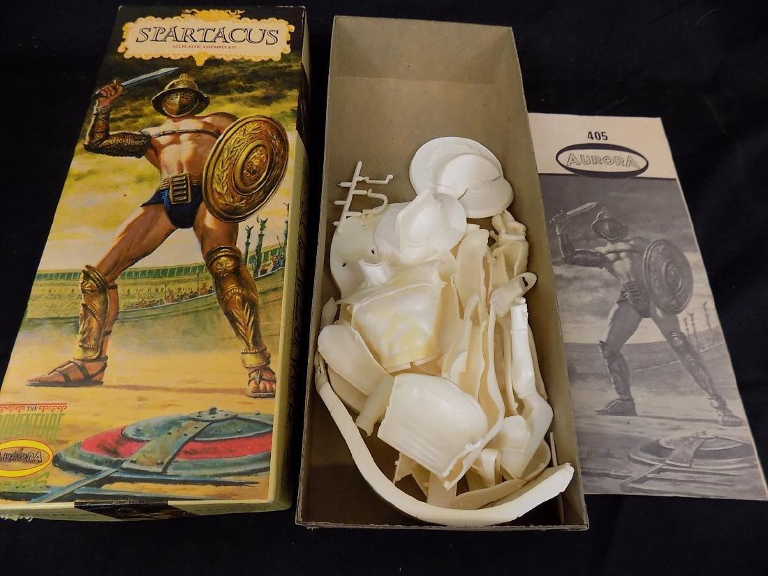 1960's Aurora Models Hercules w/Tiger, Spartacus & - 4