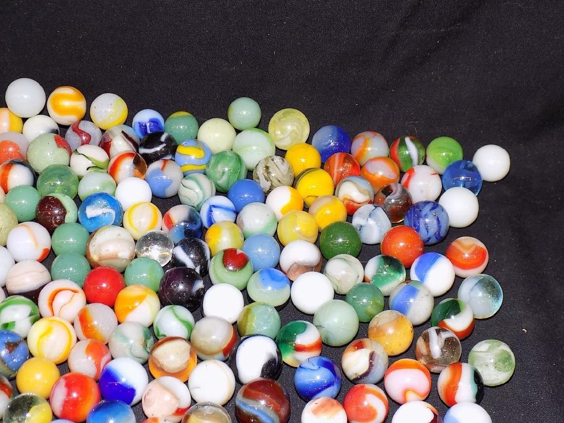 Box of Various Size and Type Marbles Est 200 pcs - 4