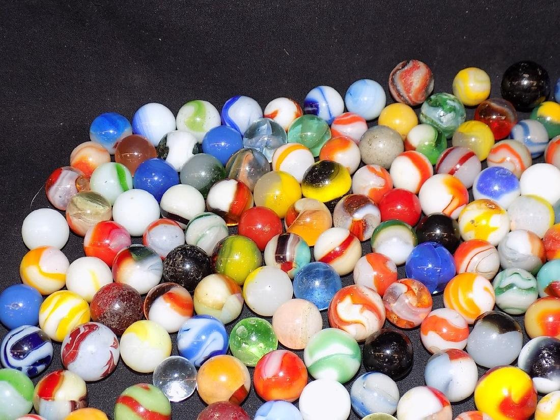 Box of Various Size and Type Marbles Est 200 pcs - 5