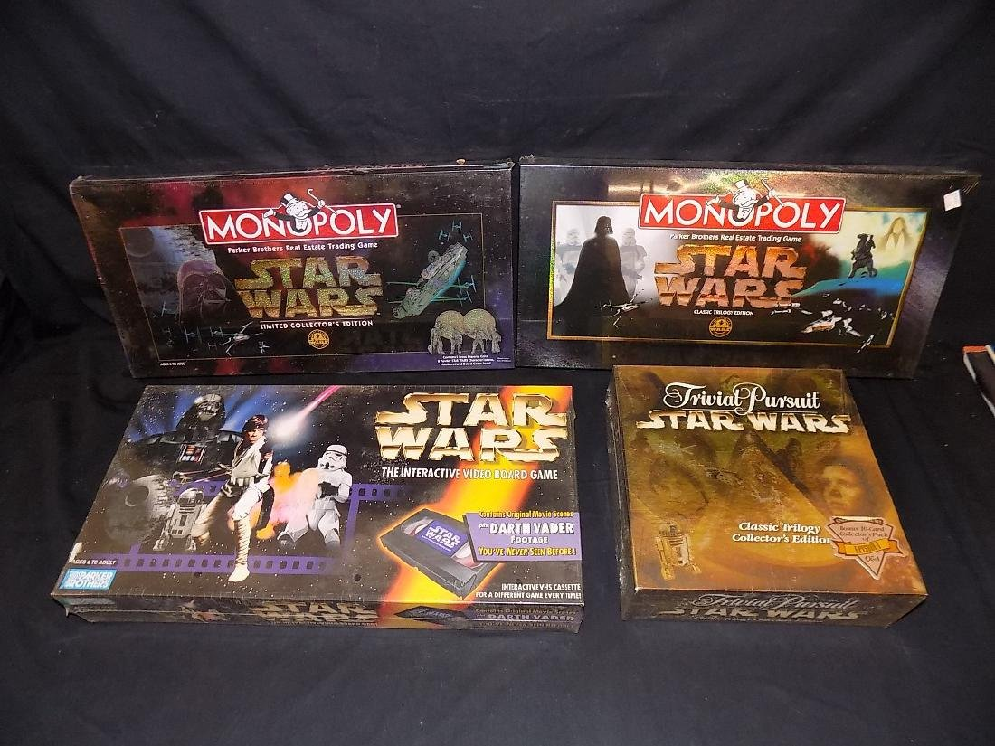 (2) Star Wars monopoly Games + Star Wars Trivial