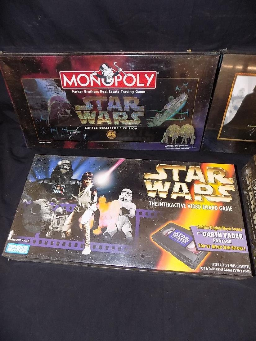 (2) Star Wars monopoly Games + Star Wars Trivial - 2
