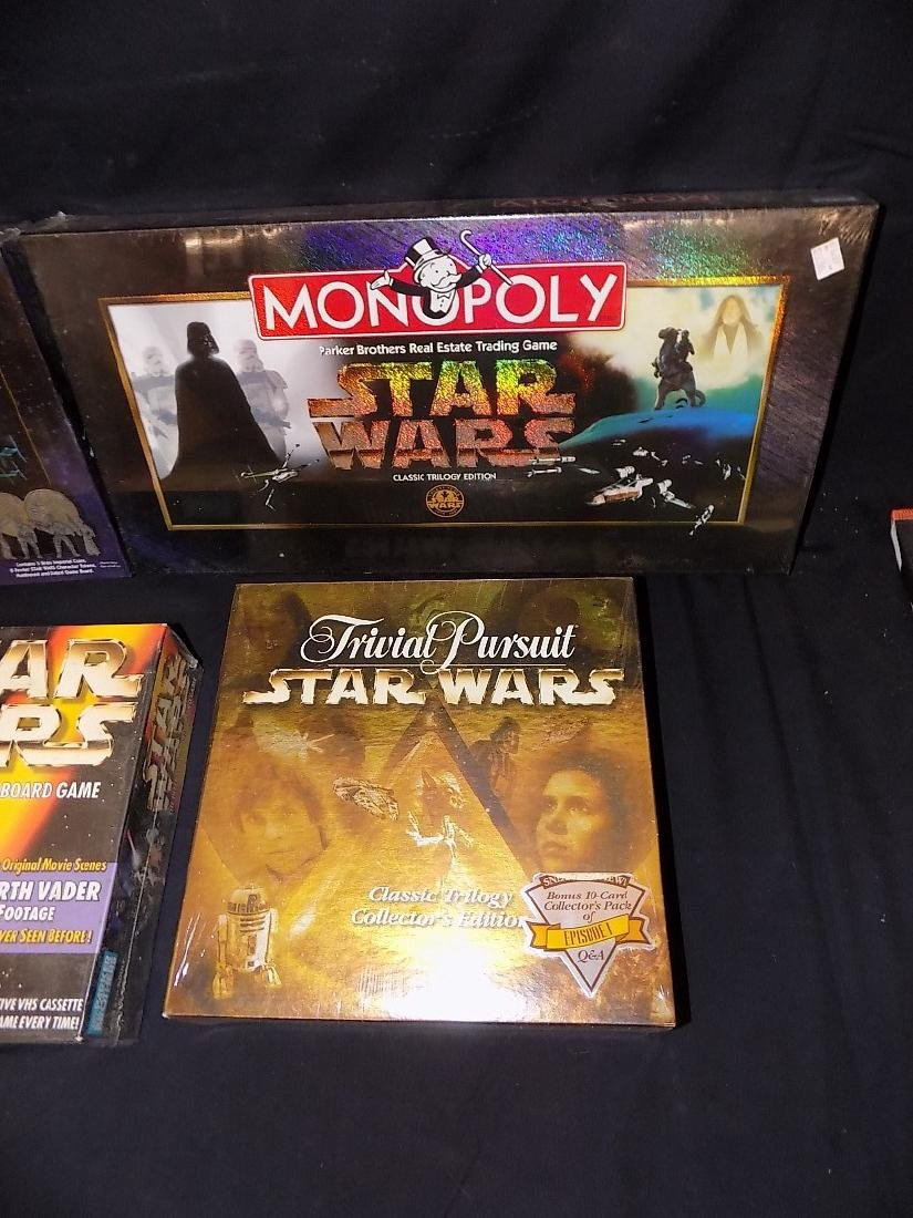 (2) Star Wars monopoly Games + Star Wars Trivial - 3