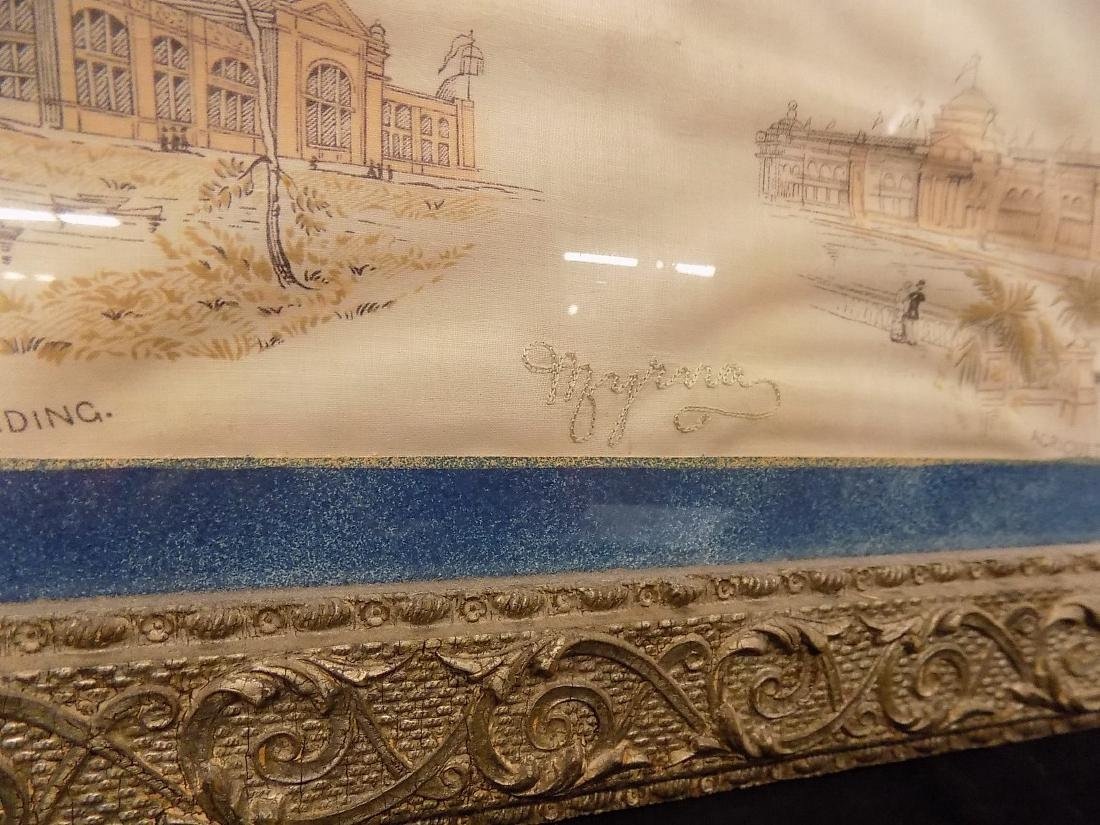 1893 Chicago World's Fair Framed Textile Fine Arts - 3