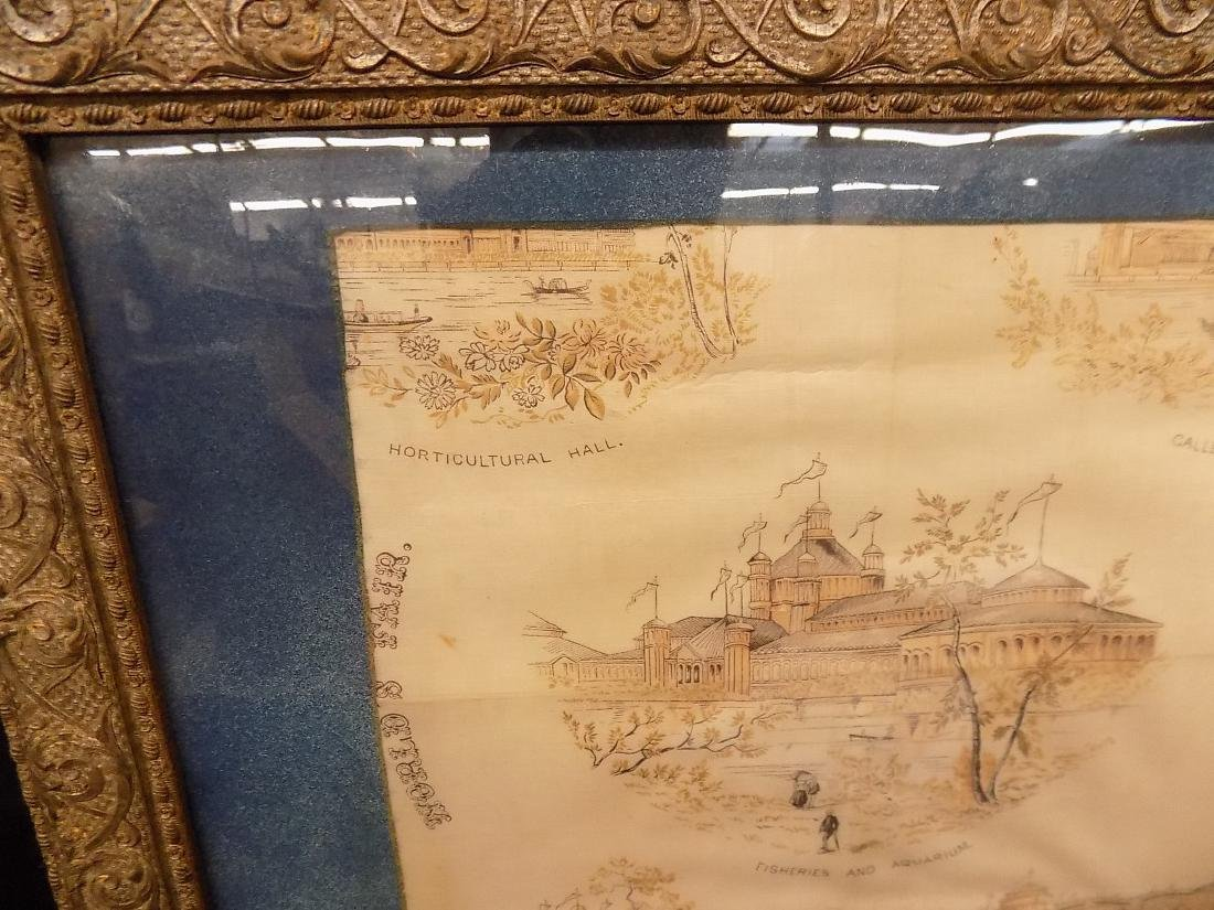 1893 Chicago World's Fair Framed Textile Fine Arts - 6