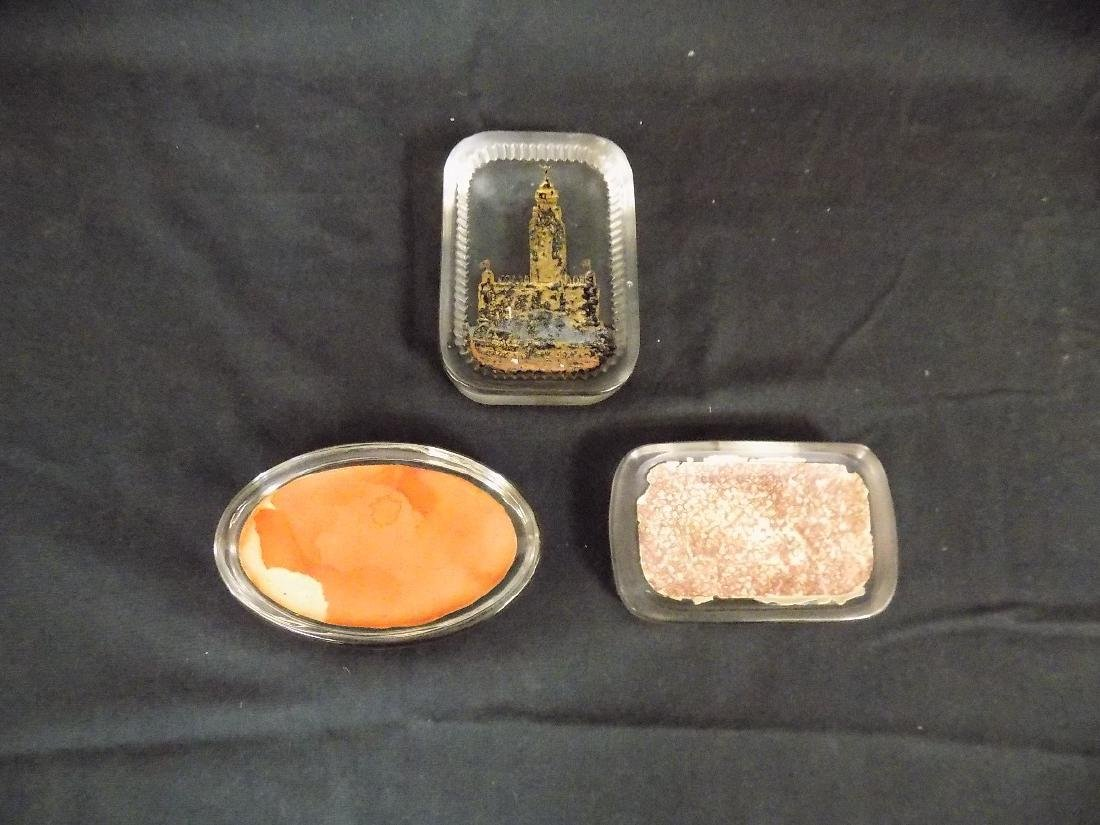 1893 Chicago World's Fair Lot of 3 Paperweights - 2