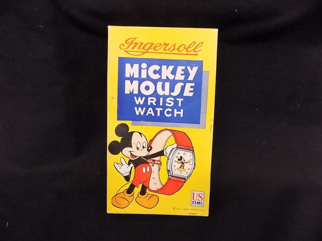 1940's INGERSOLL MENS MICKEY MOUSE MECHANICAL WATCH IN