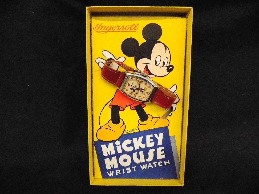 1940's INGERSOLL MENS MICKEY MOUSE MECHANICAL WATCH IN - 3
