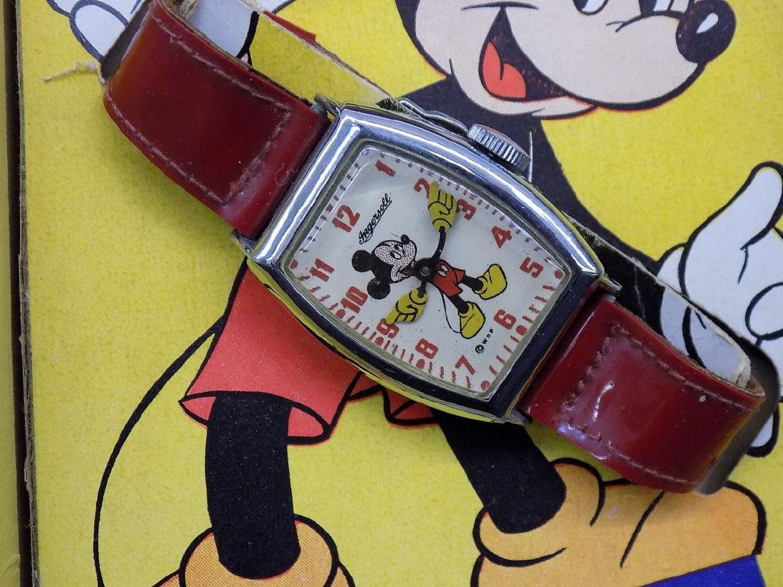 1940's INGERSOLL MENS MICKEY MOUSE MECHANICAL WATCH IN - 4