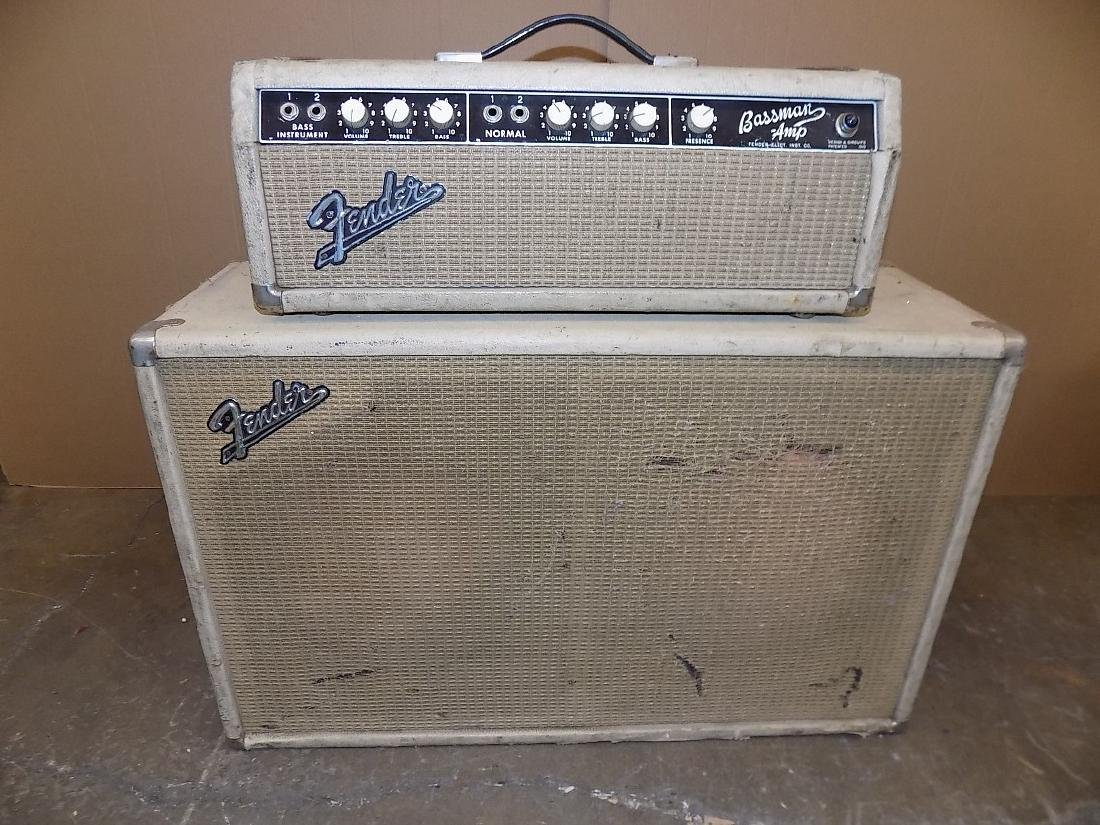 1960's FENDER Blonde BASSMAN AMP HEAD & CABINET