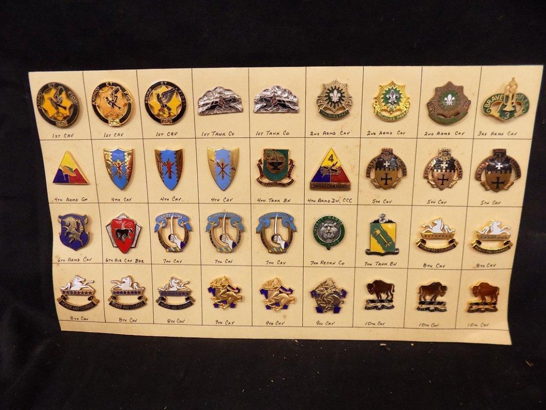 (36) United States Military Pins 1st Cav, 3rd Armd Cav,