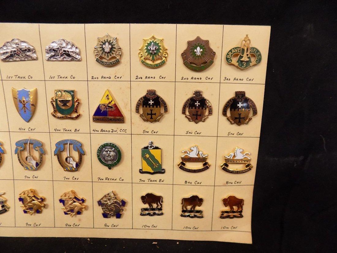 (36) United States Military Pins 1st Cav, 3rd Armd Cav, - 3