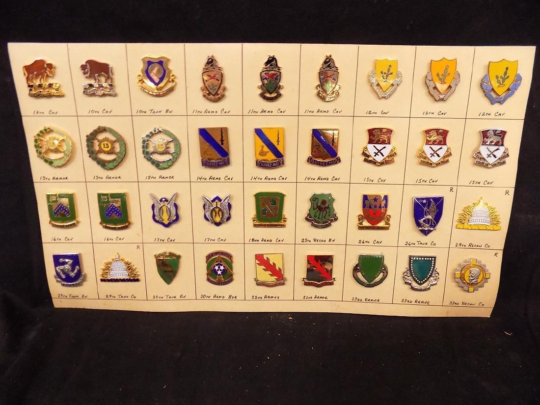 (36) United States Military Pins  10th Calvary, 14th