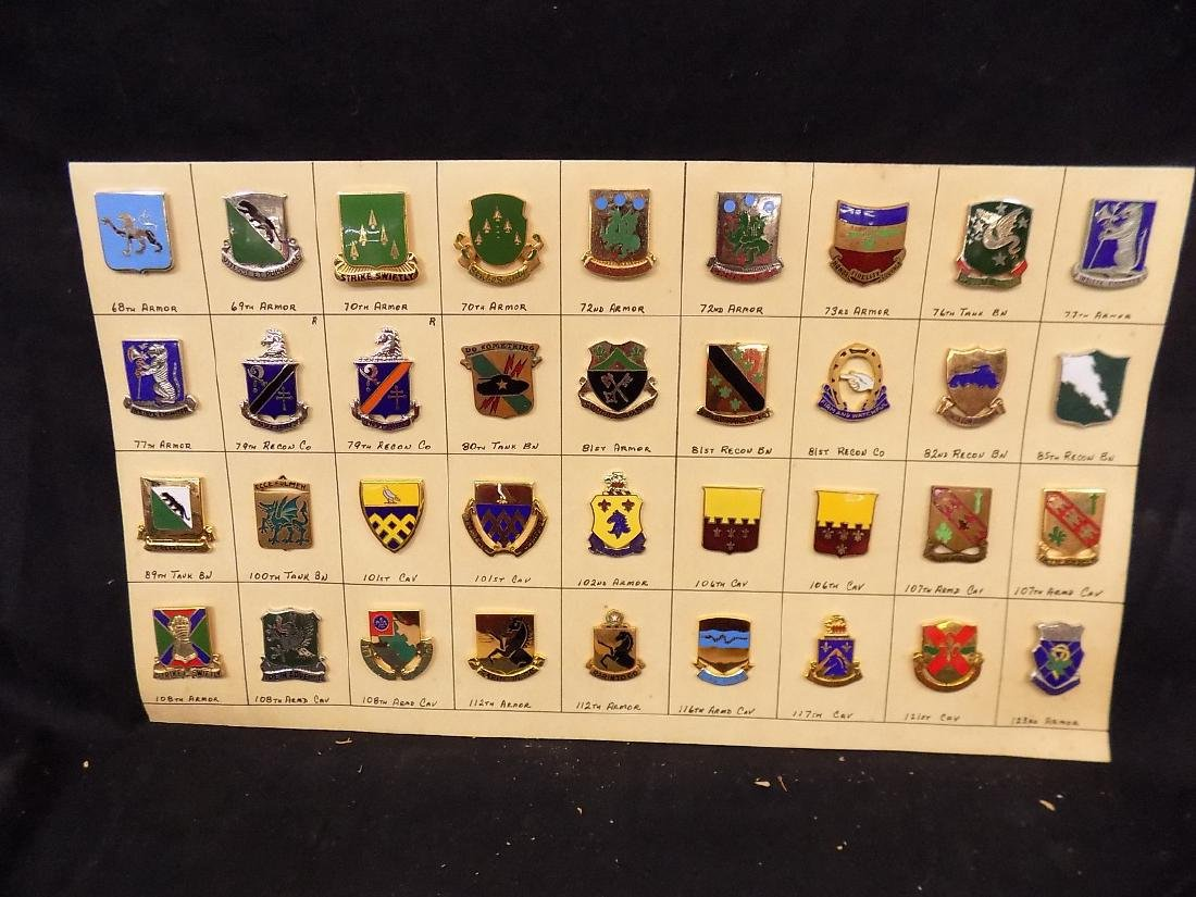 (36) United States Military Pins  101st Calvary, 69th