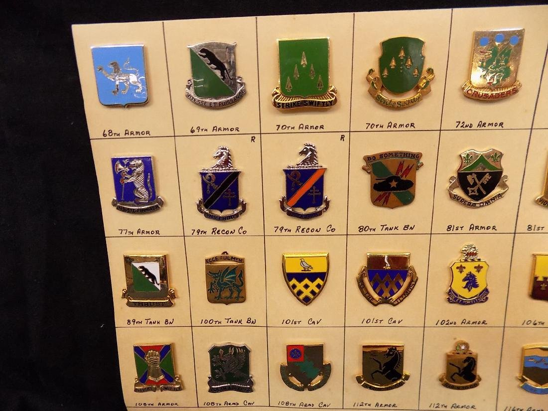 (36) United States Military Pins  101st Calvary, 69th - 2