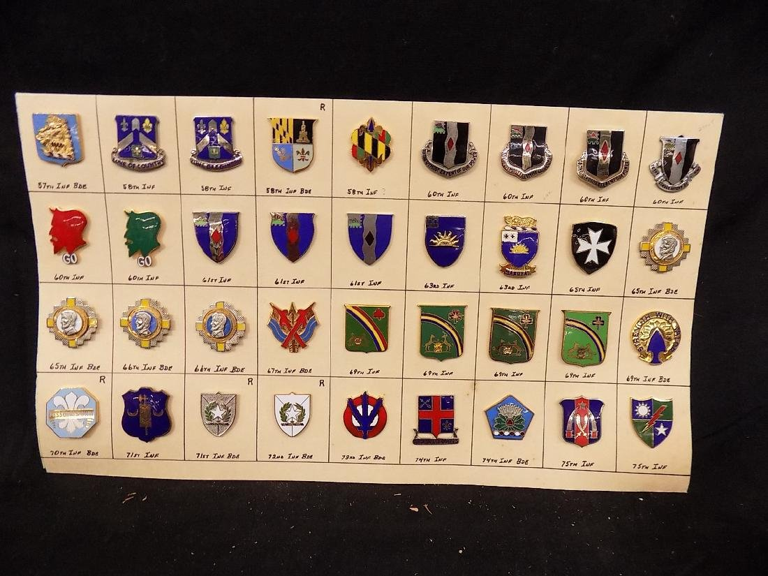 (36) United States Military Pins  58th Infantry, 69th