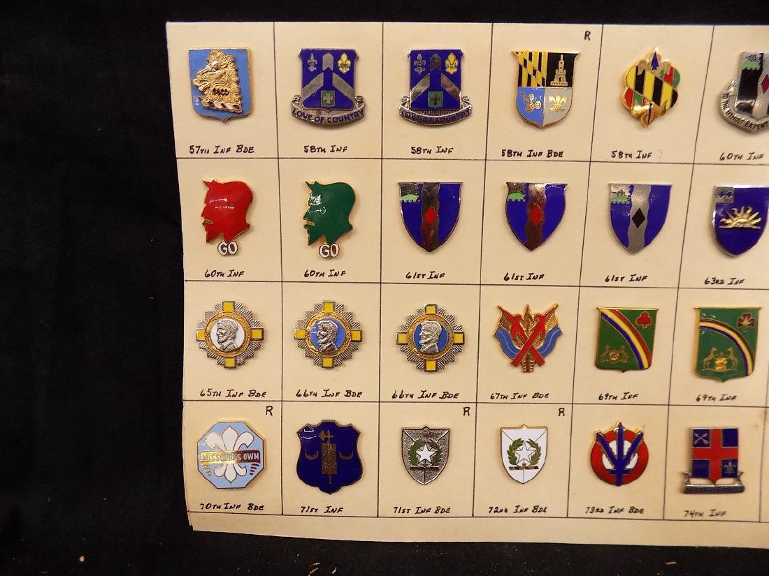 (36) United States Military Pins  58th Infantry, 69th - 2