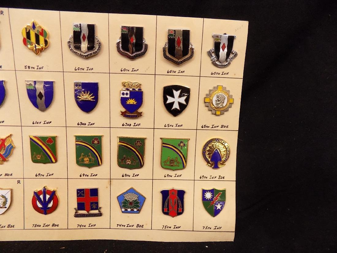 (36) United States Military Pins  58th Infantry, 69th - 3