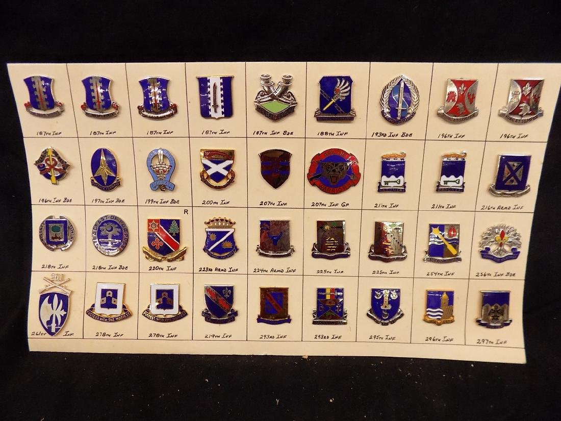 (36) United States Military Pins  187th Infantry, 293rd