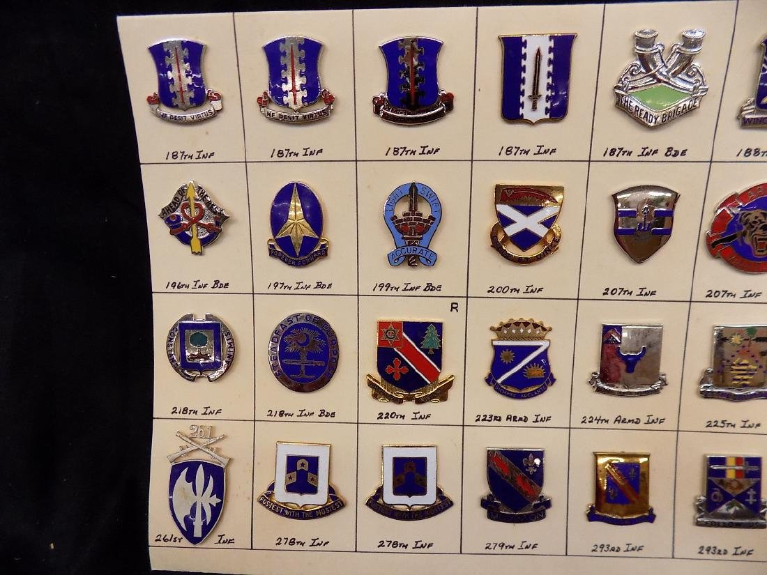 (36) United States Military Pins  187th Infantry, 293rd - 2