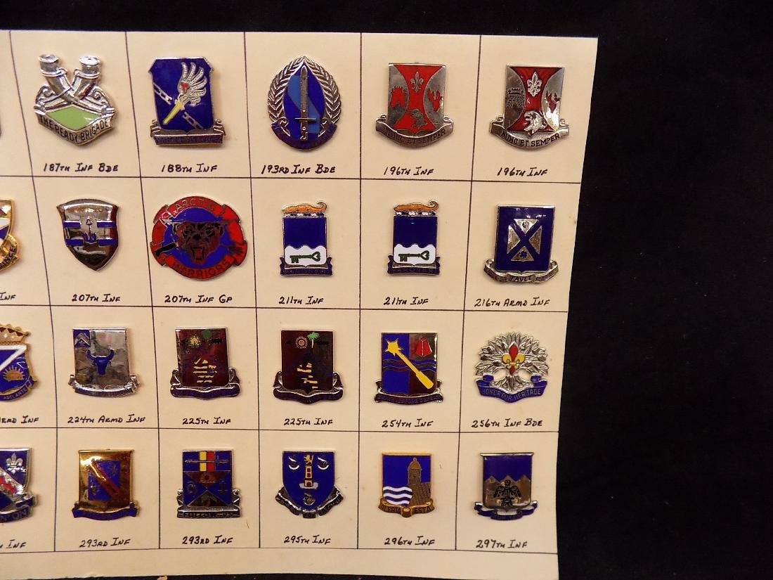 (36) United States Military Pins  187th Infantry, 293rd - 3