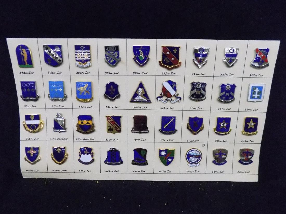 (36) United States Military Pins  376th Infantry, 322nd