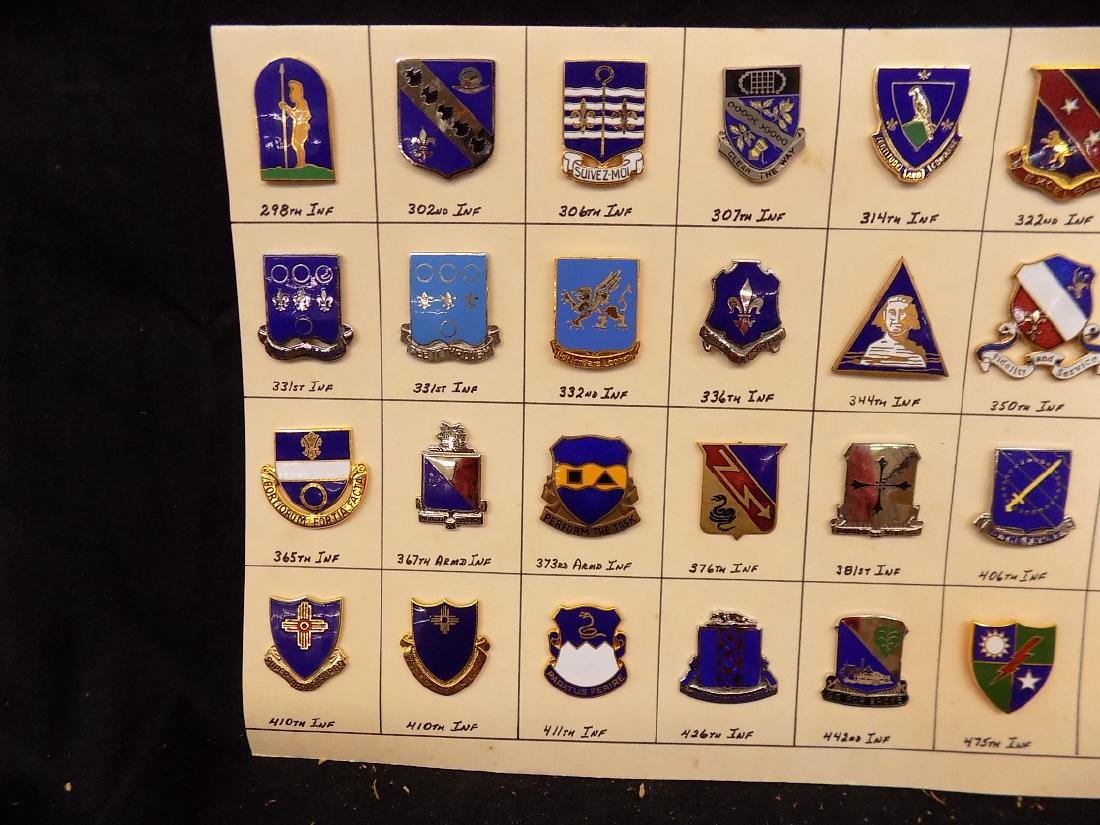 (36) United States Military Pins  376th Infantry, 322nd - 2