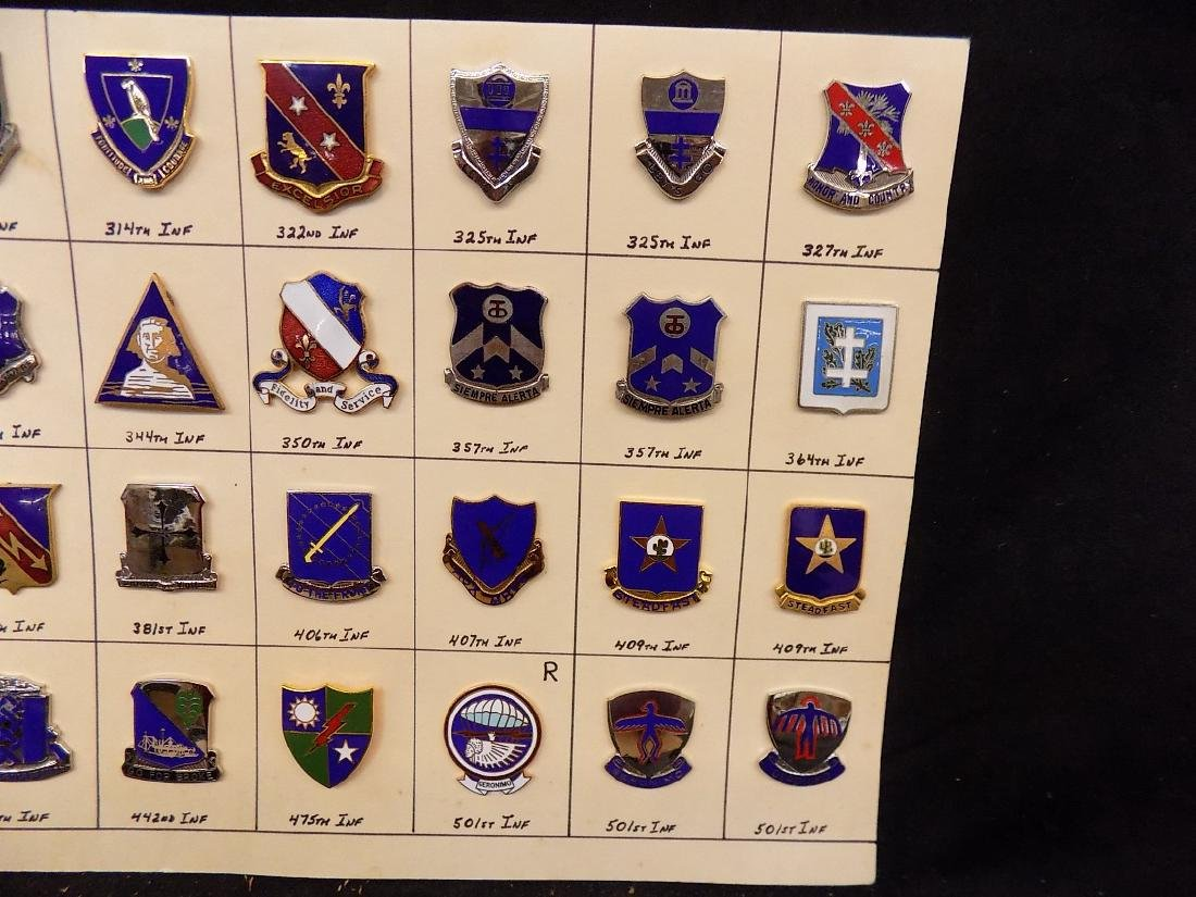 (36) United States Military Pins  376th Infantry, 322nd - 3