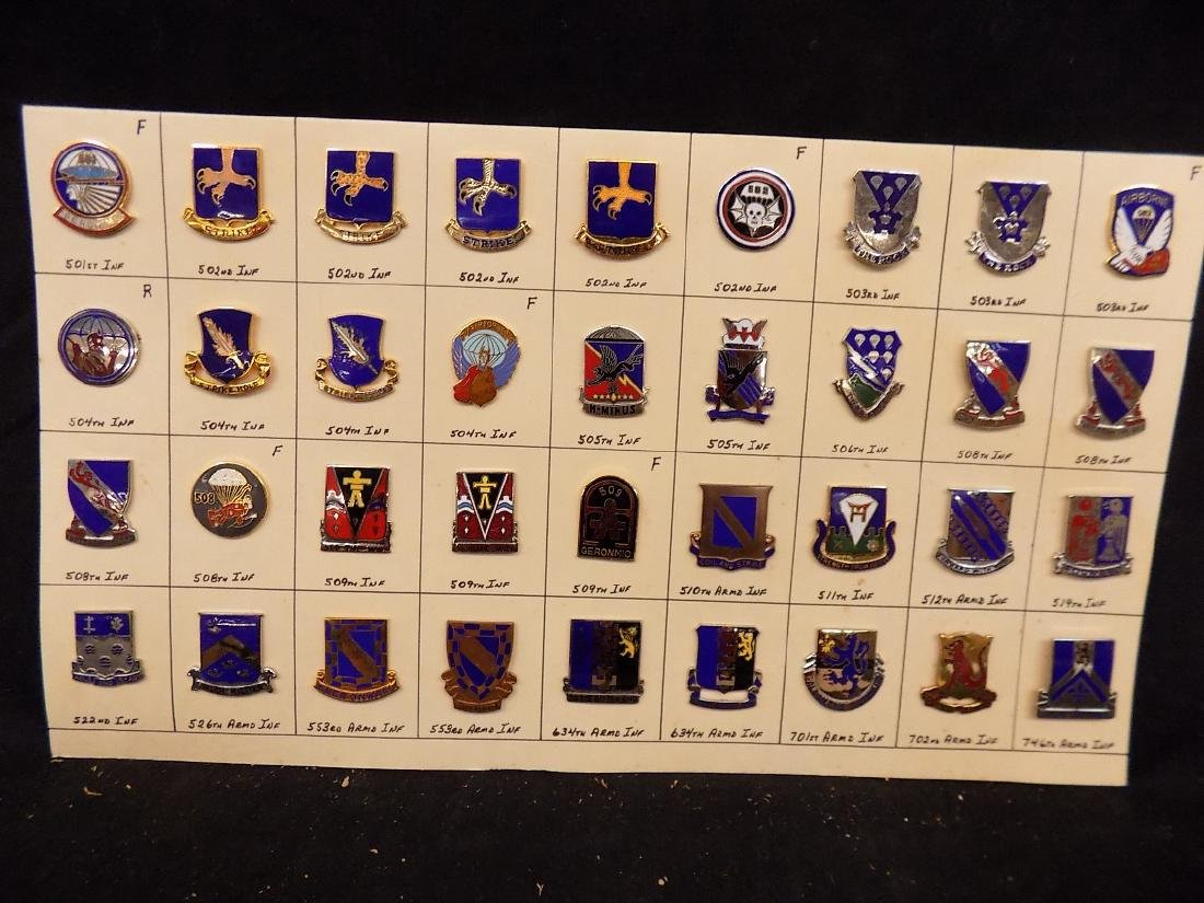 (36) United States Military Pins  502nd Infantry, 508th