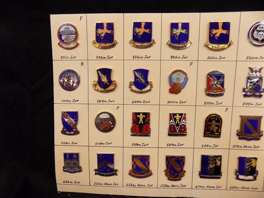(36) United States Military Pins  502nd Infantry, 508th - 2