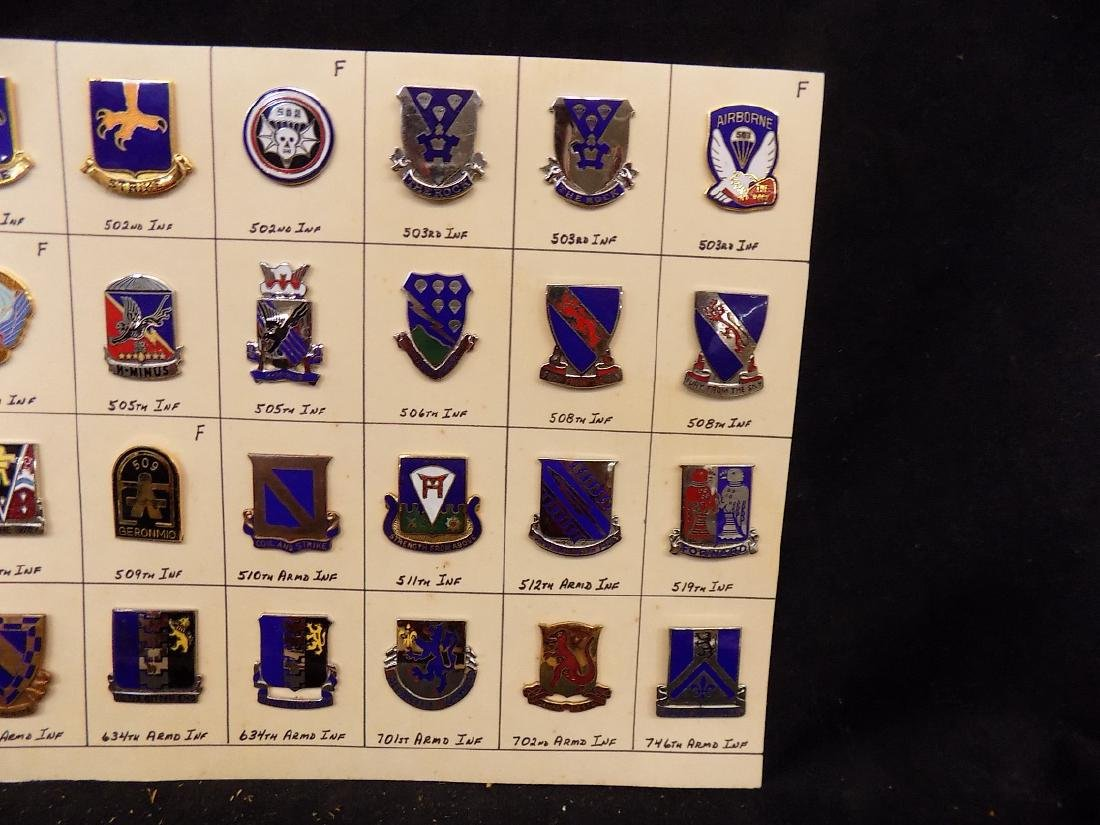 (36) United States Military Pins  502nd Infantry, 508th - 3