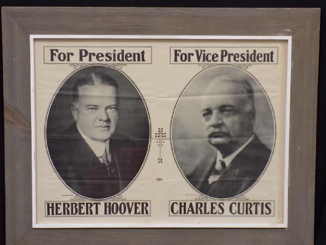 1928-1929 Herbert Hoover & Charles Curtis PRESIDENTIAL
