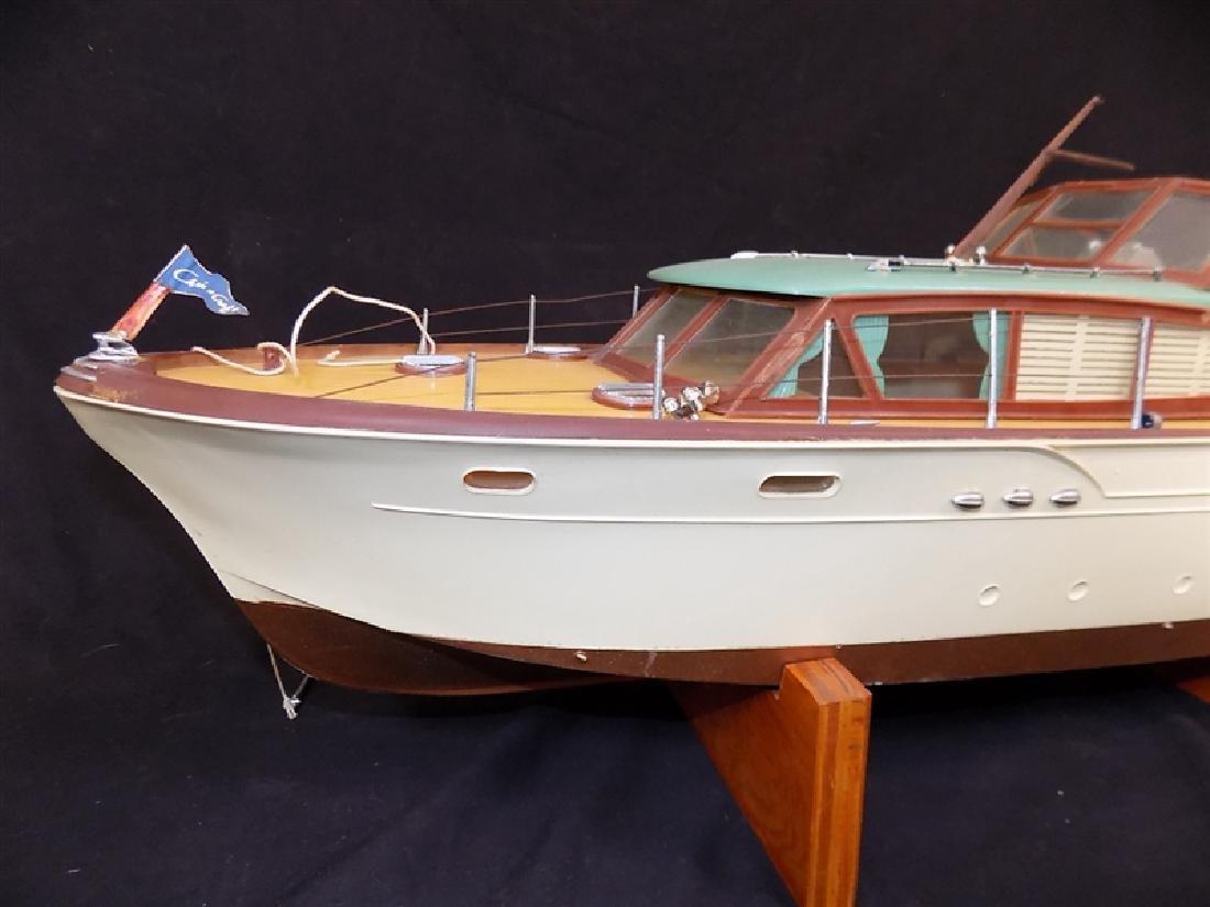 "1950's Chris-Craft Luxury Boat Display Model 31"" - 7"