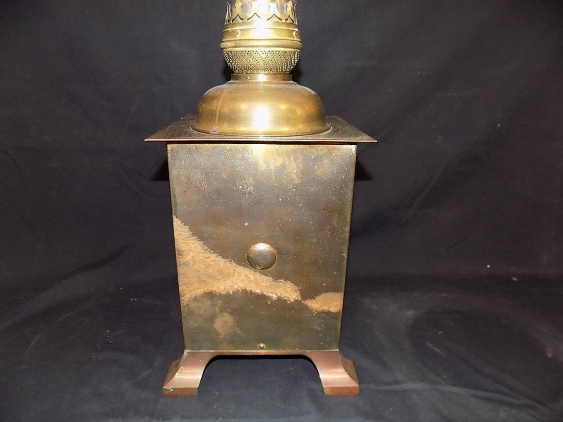 "Vintage Success Oil Lamp w/Chimney on 7 1/4"" Square Bas - 5"