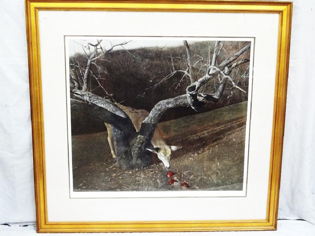 """Andrew Wyeth """"Jacklight"""" Oversize Lithograph Signed and"""