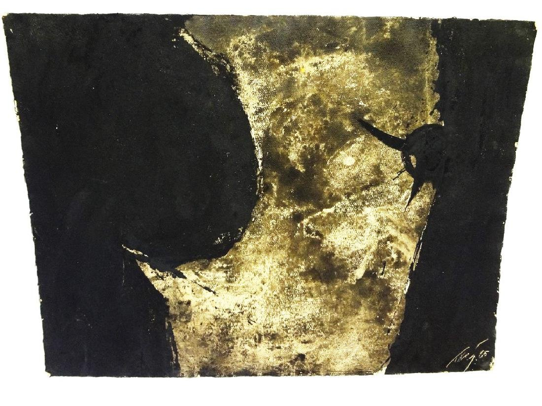 """Adja Yunkers """"Encounter 1965"""" Original Watercolor and"""