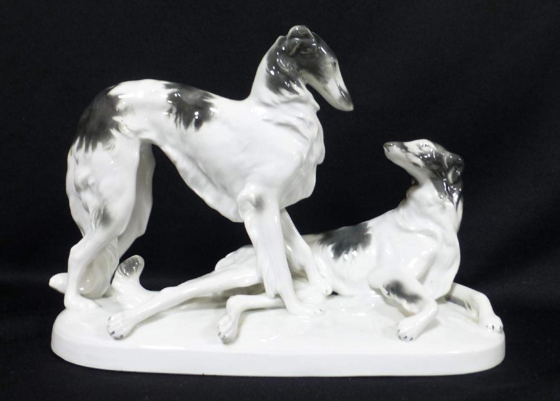 Grafennthal Largw Porcelain Borzoi Russian Wolfhound