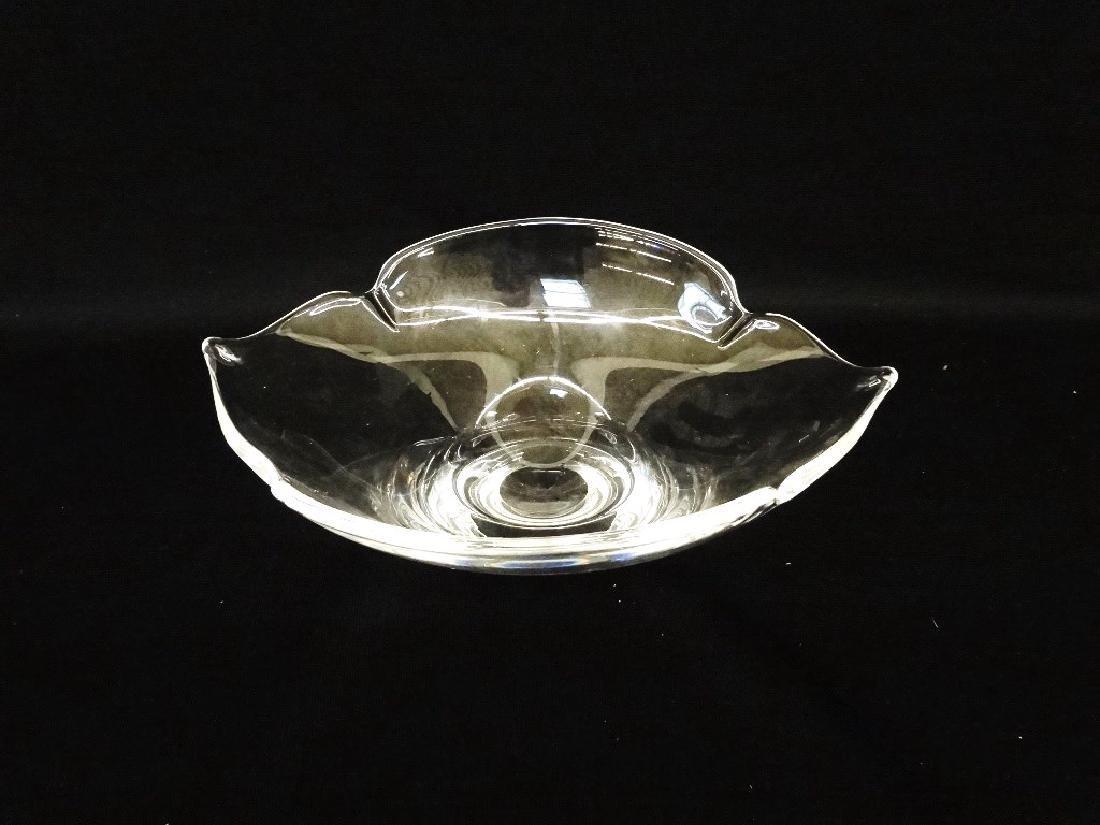 Steuben Glass Lotus Glass Dish