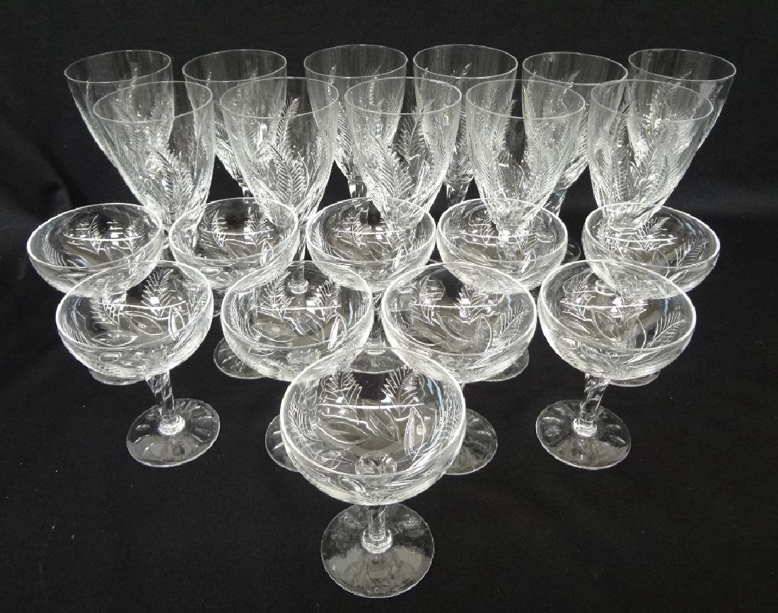 Stuart Crystal Stemware (21) Pieces: Wines and