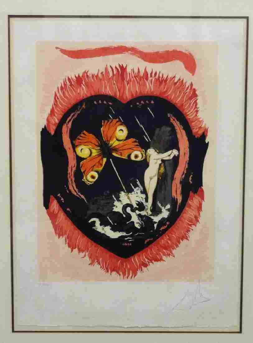 "Salvador Dali Signed Lithograph ""Le Triomphe"" I XXXIX/C"