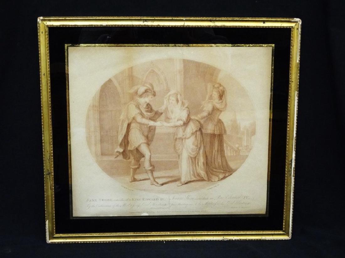 "Francesco Bartolozzi Stipple Engraving 1785 ""Jane Shore"