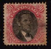 United States Scott 122 VF Used 90¢ Lincoln SCV.$1800