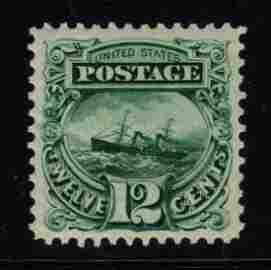 United States Scott 128 XF-S OG H 1875 Re-Issue