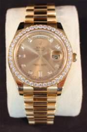 Rolex President Day Date II 18k Watch with Diamond