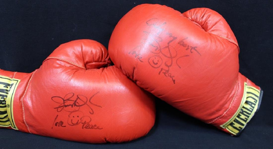 Pair of Buster Douglas Signed Everlast Boxing Gloves