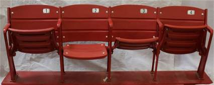 Set of 4 Cleveland Municipal Stadium Red Box Seats