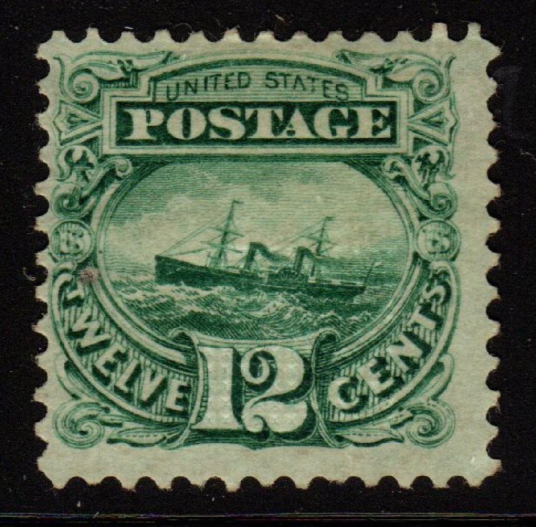U.S.Scott 117 Fine OG H 12¢ Adriatic SCV.$1850