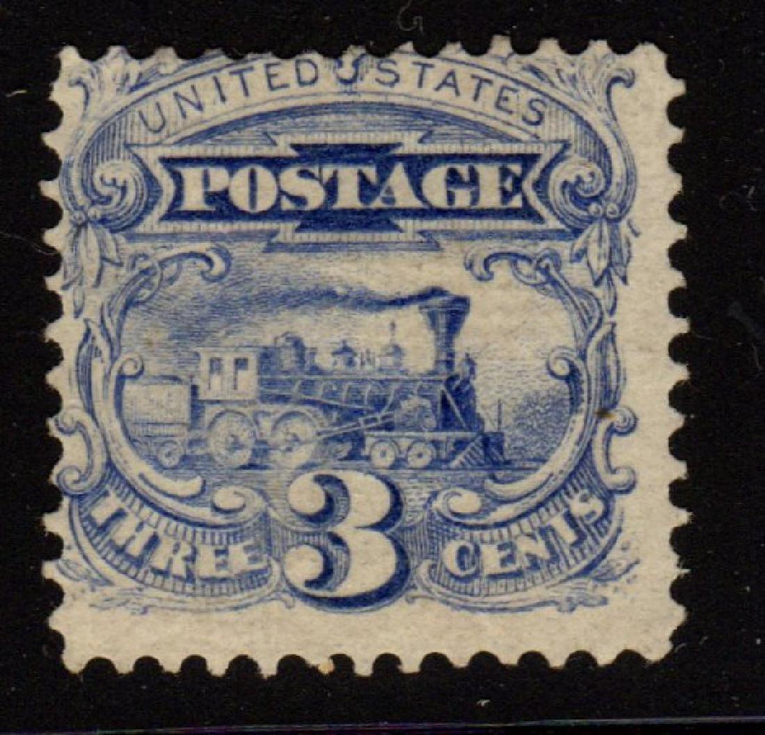 U.S.Scott 125 Ave-F Unused 3¢ Locomotive SCV.$2500