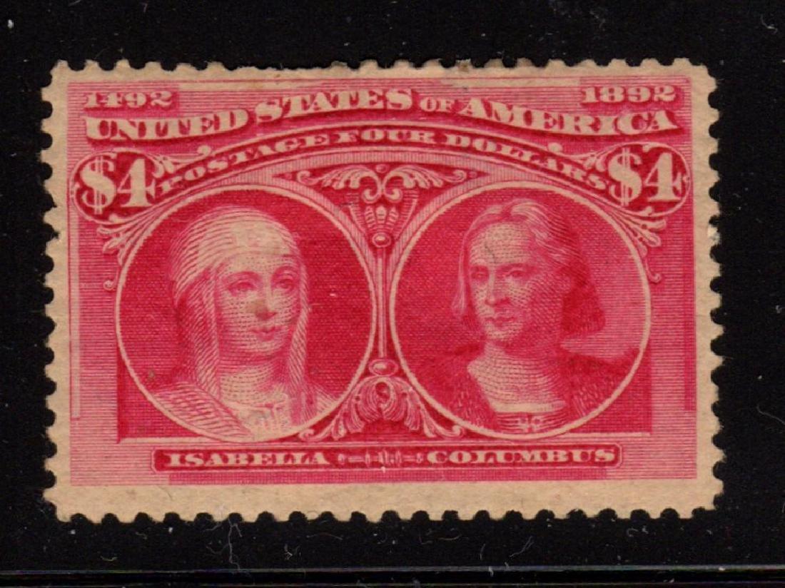 United States Scott 244 F-VF OG H $4 Columbian